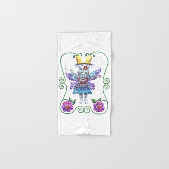 Angel Kitty Hand & Bath Towel