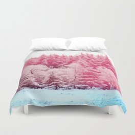 Candy pine trees Duvet Cover