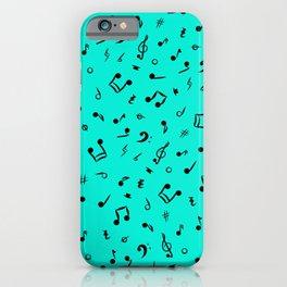 Music Notes & Symbols Sea Foam iPhone Case