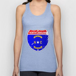 North Carolina Flag Icons As Interstate Sign Unisex Tank Top