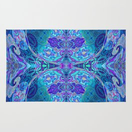 Inner Lantern Indigo Mandala Rug