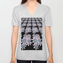 Flower Pattern Unisex V-Neck