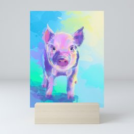 Once Upon a Pig - digital painting Mini Art Print