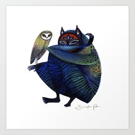 Owl & Spirit Art Print
