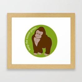 Keep the Forest Green_03 Framed Art Print