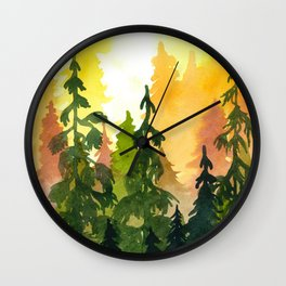 Summers' End I Wall Clock