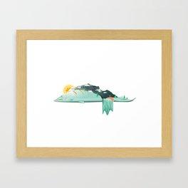 Salmon River Hills Framed Art Print