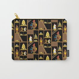 Chicken Coop - chickens, farm, illustration, birds Carry-All Pouch