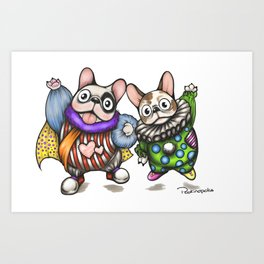 Fun Frenchies Art Print