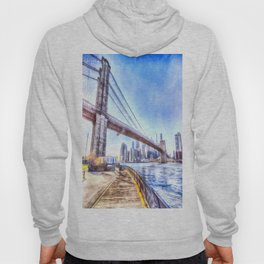Brooklyn Bridge New York Art Hoody