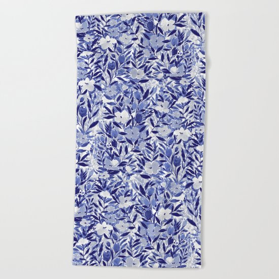 Nonchalant Indigo Beach Towel