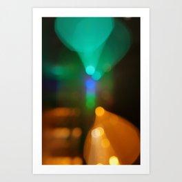 Liffey Lights (Bokeh ICM Exposure), River Liffey, Dublin Art Print