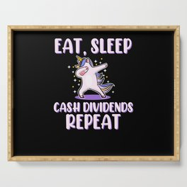Dab Dabbing Unicorn Dividends From Stock Loves Serving Tray