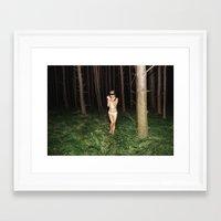 laura palmer Framed Art Prints featuring Laura Palmer II by Linas Vaitonis