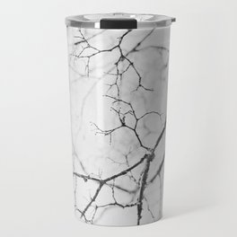 impression of a tree in black and white Travel Mug