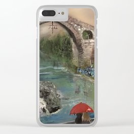 The Roman Bridge, Asturias  Clear iPhone Case