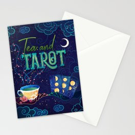Kelly-Ann Maddox Collection :: Tea and Tarot (Illustrated) Stationery Cards