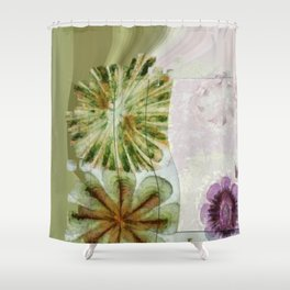 Essive Truth Flowers  ID:16165-132545-22351 Shower Curtain