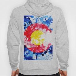 Colorado Watercolor Flag Hoody