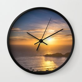 Sunset by the Pacific Wall Clock