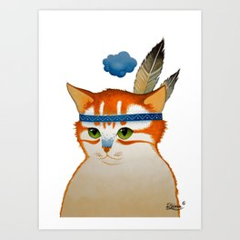 LITTLE QUIET CLOUD by Raphaël Vavasseur Art Print