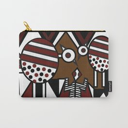 African Tribal Pattern No. 37 Carry-All Pouch
