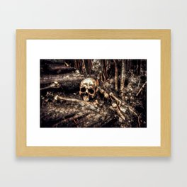 Bones In The Forest Framed Art Print