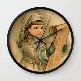 Canadian Girl Maud Humphrey Wall Clock