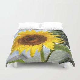 une seule fleur Duvet Cover