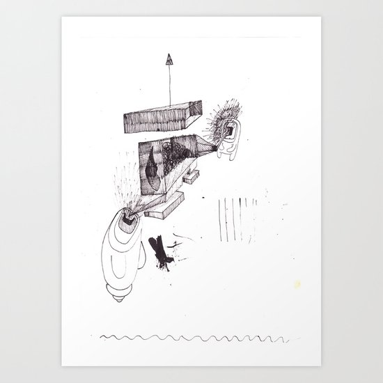 two brothers. Scream and Shout. Art Print