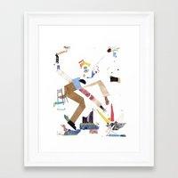 crane Framed Art Prints featuring Crane by ARTDJG