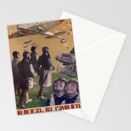 Vintage poster - Russian Propaganda Stationery Cards