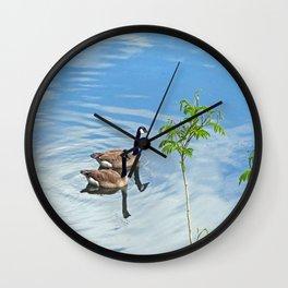 Enjoying a Swim Wall Clock