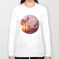 santa monica Long Sleeve T-shirts featuring Sunset in Santa Monica by Kate Tova