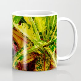 Tropical Croton Plant Coffee Mug