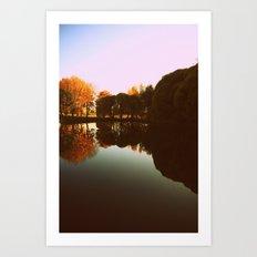 trees reflections Art Print