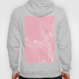 Millennial Pink illumination of Heart White Tropical Palm Hawaii Hoody