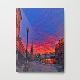 Trinity Street Sunset Metal Print