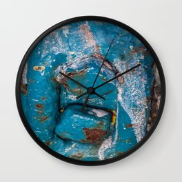 Corroded Metal Wall Clock