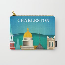 Charleston, West Virginia - Skyline Illustration by Loose Petals Carry-All Pouch
