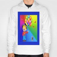 clown Hoodies featuring Clown by Art-Motiva