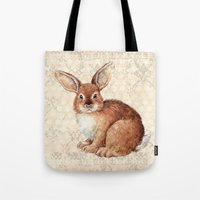 rabbit Tote Bags featuring Rabbit by Patrizia Ambrosini