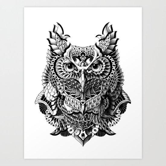 Century Owl Art Print