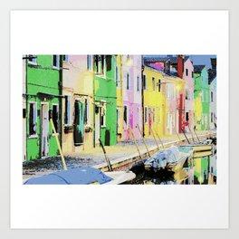 Cottage Italy Art Print