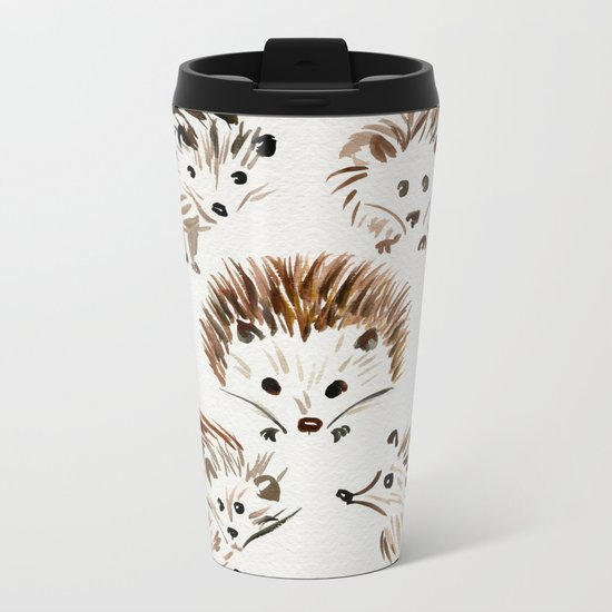 Hedgehogs Metal Travel Mug