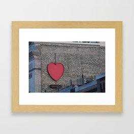 Heart of Downtown Framed Art Print