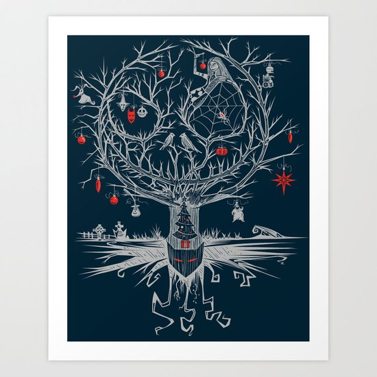 Ornamental Nightmare Art Print