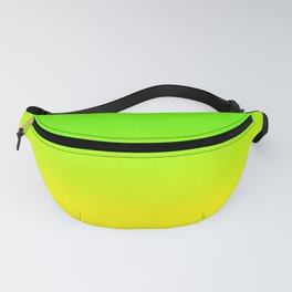 Neon Green and Neon Yellow Ombré  Shade Color Fade Fanny Pack