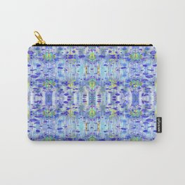 Royal Blue Ikat Carry-All Pouch