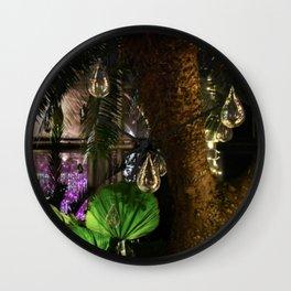 Hanging Lightbulbs Wall Clock